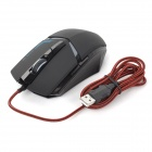 SUNSONNY T-M30 USB 2.0 Wired 600 / 1200 / 1800dpi LED Optical Gaming Mouse - Black (Cable-160cm)
