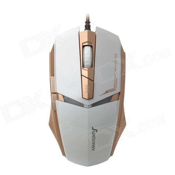 SUNSONNY T-M30 USB 2.0 Wired 600 / 1200 / 1800dpi LED Optical Gaming Mouse (Cable-160cm)
