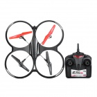 FiLiTe H07N 4-CH R/C 2.4GHz X-Drone G-Shock Quadcopter w/ Gyroscope (Mode 2) - Black + Red