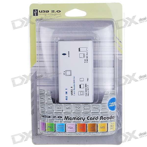 All-in-1 USB 2.0 Card Reader (White)