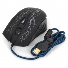 JEWAY JM-1306 USB 2.0 Wired 800 / 1000 / 1200 / 1600dpi LED Gaming Mouse - Black