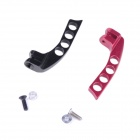 Aluminum Alloy 4-Hole Transmitter Neck Strap Balancer for JR Futaba - Black + Red (2 PCS)