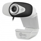 Jeway JW-5201 USB 2.0 Wired 8.0MP HD Camera w/ Microphone - Black + White