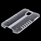 Foldable Protective Plastic Back Case for Samsung Galaxy S5 - White + Transparent