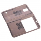 Neumond Muster Protective Leather Case w / Back Etui für Samsung Galaxy S5 - dunkelgelb