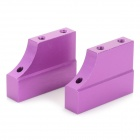 Aluminum Alloy Engine Mount for HSP 1:10 Model Vehicle - Purple (2 PCS)