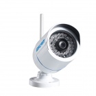 ESCAM Q6320WiFi Waterproof 720P CMOS 6mm Fixed Lens Network IP Camera w/ 24-IR LED - White (US Plug)