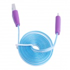 Lighting USB to Micro USB Data Charging Cable for Samsung i9000 / i9100 / i9300 - Blue + Purple (1m)