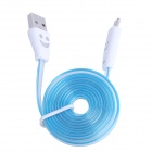 Lighting USB to Micro USB Data Charging Cable for Samsung i9000 / i9100 / i9300 - Blue + White (1m)