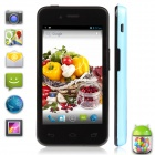 "UTime U6 MTK6572 Dual-Core Android 4.2 WCDMA 3G Bar Phone w/ 4.0"" IPS, 512MB RAM, 4GB ROM - Blue"