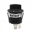 MaiTech 14V 20A Third Gear Rotary Switch w/ Red LED Indicator - Black