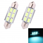 MZ Festoon 36mm 3W 240lm 6-SMD 5630 LED Ice Blue Car Reading  / License Plate Light (12V)