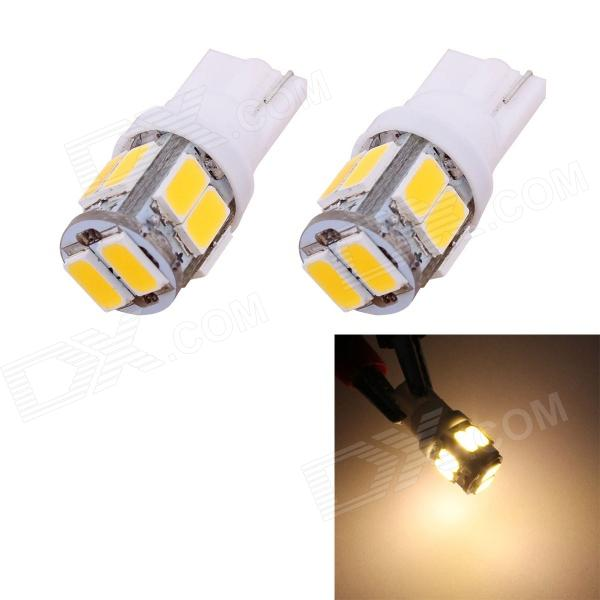 MZ T10 5W 240lm 10-SMD 5630 LED Warm White Light Car Clearance / Tail Lamps (DC 12V / 2 PCS) mz t10 5w 350lm 10 smd 5630 led error free canbus warm white light car clearance lamp dc12v 2 pcs