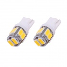 MZ T10 5W 240lm 10-SMD 5630 LED Warm White Light Car Clearance / Tail Lamps (DC 12V / 2 PCS)