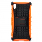 Protective TPU + PC Case w/ Holder for Sony Xperia Z2 - Black + Orange