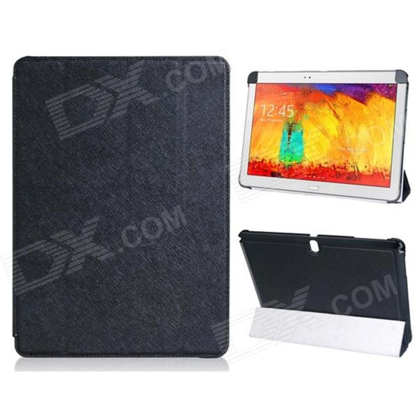 Pandaoo PU Leather Case Cover Stand for Samsung Galaxy Note 10.1 P600 P601 2014 Edition - Black samsung galaxy note 10 1 2014 edition 3g 16gb