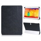 Pandaoo PU Leather Case Cover Stand for Samsung Galaxy Note 10.1 P600 P601 2014 Edition - Black