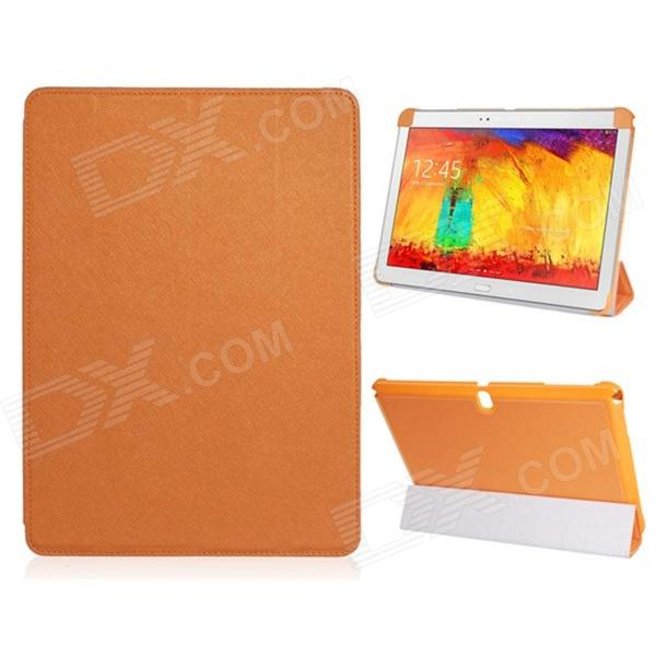Pandaoo PU Leather Case Cover Stand for Samsung Galaxy Note 10.1 P600 P601 2014 Edition - Orange samsung galaxy note 10 1 2014 edition 3g 16gb