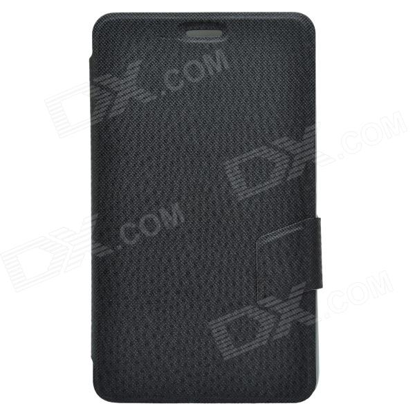 Elegant Ball Pattern Business Style Protective PU Leather Case Stand for Huawei MediaPad X1 - Black West Valley City поиск б.у