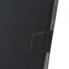 Elegant Ball Pattern Business Style Protective PU Leather Case Stand for Huawei MediaPad X1 - Black