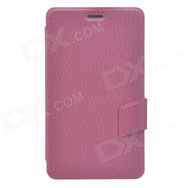 Ball Pattern Business Style Protective PU Leather Case Stand for Huawei MediaPad X1 - Deep Pink book leather case tablets accessories business cover fundas for huawei mediapad m2 ple 703l t2 7 0 pro pu stand cases capa