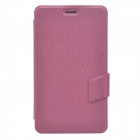 Ball Pattern Business Style Protective PU Leather Case Stand for Huawei MediaPad X1 - Deep Pink