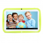 "R70AC 7"" IPS Android 4.2.2 Dual Core Kids Tablet PC w/ 512MB RAM / 8GB ROM - Green + White"