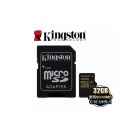 Kingston 32GB microSDHC Flash Memory Cards Class 10 UHS-I 90MB/s SDCA10/32GB