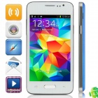 "H5W(GT-9000) MTK6572 Dual-Core Android 4.3.3 WCDMA Bar Phone w/ 4.0"", Wi-Fi and GPS - White + Blue"