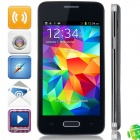 "H5W(GT-9000) MTK6572 Dual-Core Android 4.3.3 WCDMA Bar Phone w/ 4.0"" Screen, Wi-Fi, FM - Black"