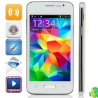 "H5W(GT-9000) MTK6572 Dual-Core Android 4.3.3 WCDMA Bar Phone w/ 4.0"", Wi-Fi, FM - White + Silver"