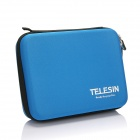 TELESIN Protective EVA Camera Bag for Gopro Hero 4/3+ / 3 / 2 - Blue (Medium Size)