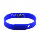 Jtron Fashionable Insect Pattern Silicone Sport Bracelet - Blue