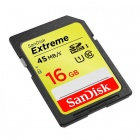 SanDisk Extreme 16GB SDHC Class 10 Flash Memory Card 45MB/s SDSDX-016G