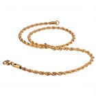EQute CSS19T2S20C3 Men's Fashionable Stainless Steel Necklace - Golden