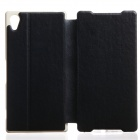 KALAIDENG Protective PU Leather Flip Open Case w/ Stand for Sony Xperia (Z2) - Black