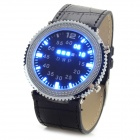 ShiFenMei D-1108 PU Leather Band Zinc Alloy Blue Light LED Digital Wrist Watch (2 x CR2016)