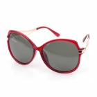 Sys027 Woman's Classic Big-Frame UV400 Sunblock Sunglasses - Golden + Red