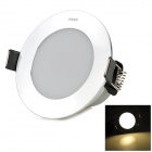 Unilumin HTD765 3W 240LM 3500K 6-5630 SMD LED Warm White Ceiling Lamp - Silver (AC 220~240V)