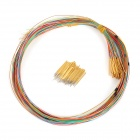 LSON PM50-B1 Gold Plated Brass Stylet Probe + RM50-2W7 Probe Sleeve w/ Wire Set - Golden (100 PCS)