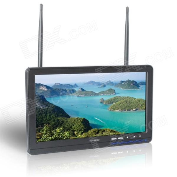 "FEELWORLD FPA-101DT 10.1"" FPV Monitor w/ Built-in Dual 32-CH Antennas"