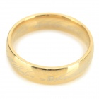 Ring-to-rule-them-all 316L Stainless Steel Ring - Golden (Size 11.5)