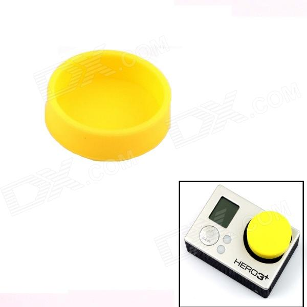 PANNOVO Professional Protective Silicone Lens Cover Cap Set for Gopro Hero 4/ 3 / 3+ - Yellow pannovo protective plastic lens cover for gopro hero 4 3