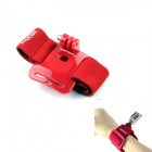 NEOpine G-410-R Elasticity Nylon Sport Camera Wristband Mount for GoPro Hero 2/3/3+/SJ4000 - Red