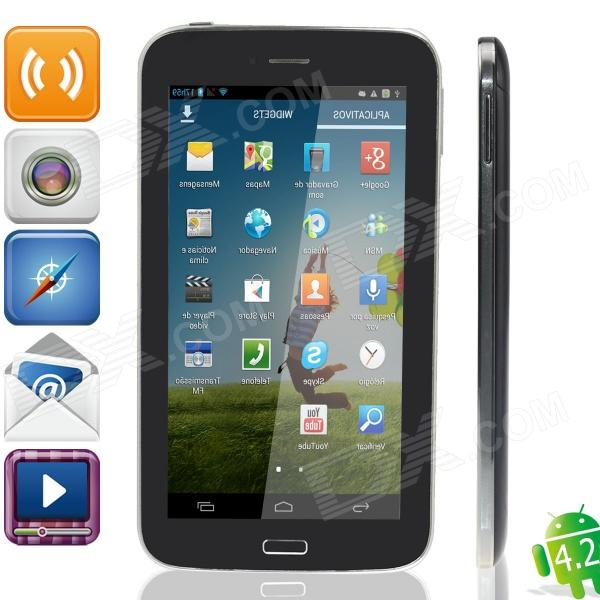 "LXK M605 6,5 ""IPS Dual Core Android 4.2 Phone Tablet PC m / 512MB RAM, 4 GB ROM - Svart"