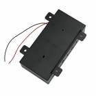 4-Slot 6V D Type Battery Power Source Holder Case Box w/ Leads - Black