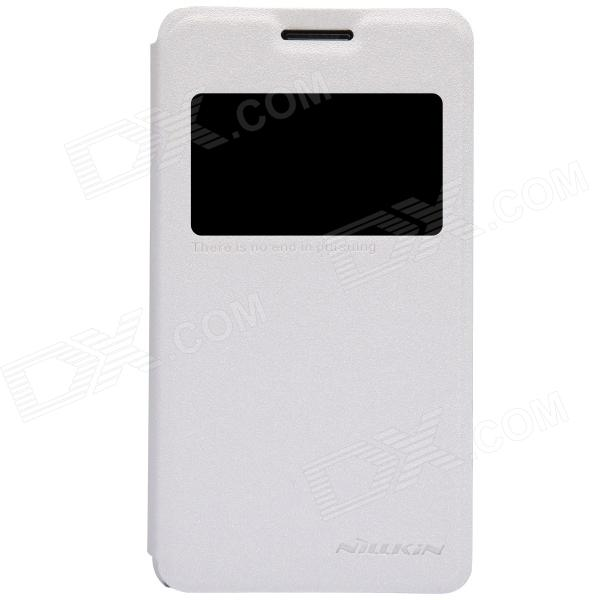 NILLKIN Protective PU Leather + PC Case Cover for Sony Xperia E1(D2105) - White car ac digital camera travel battery charger for nikon en el15 black