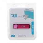 Acero inoxidable GateGuard + plástico USB 2.0 Flash Drive - rojo purpúreo (8GB)