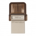Kingston DTDUO Travel OTG USB 2.0 Flash Drive for Smart Phone / Tablet PC - Silver + Grey (32GB)