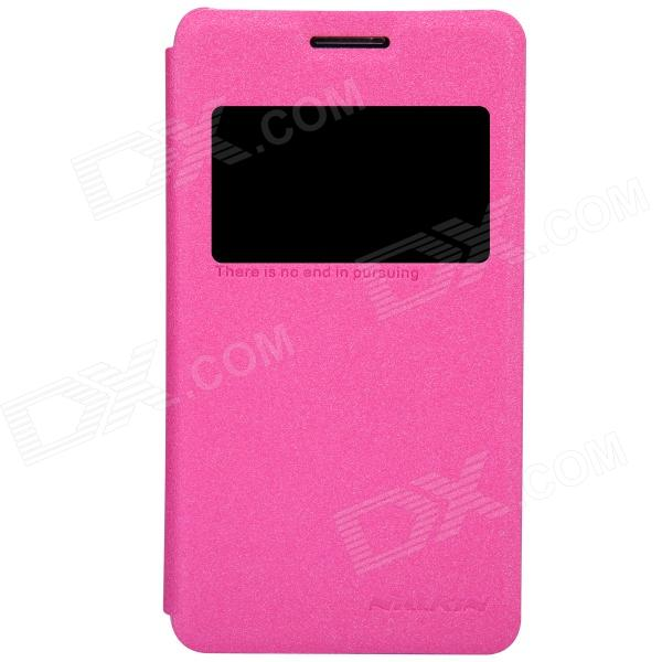 NILLKIN Protective PU Leather + PC Case Cover for Sony Xperia E1 (D2105) - Dark Pink nillkin protective pu leather pc case for sony xperia z1 compact m51w black